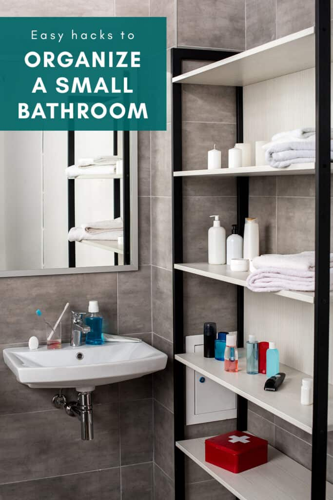 Small Bathroom Organization Cover Photo and Pin