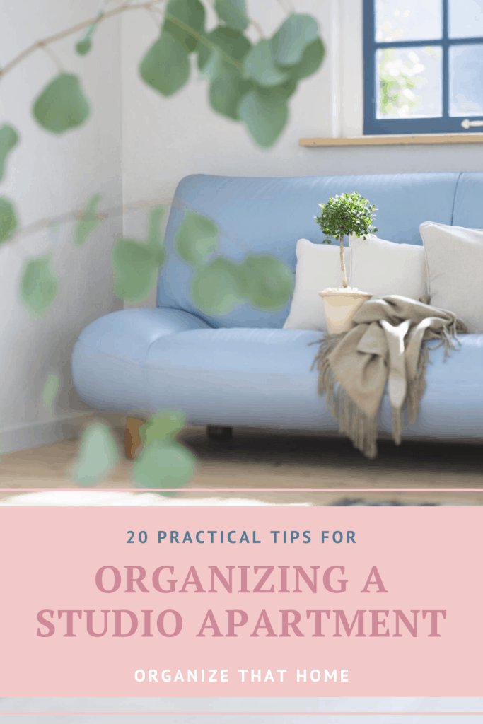 Organizing your studio apartment cover photo & pin