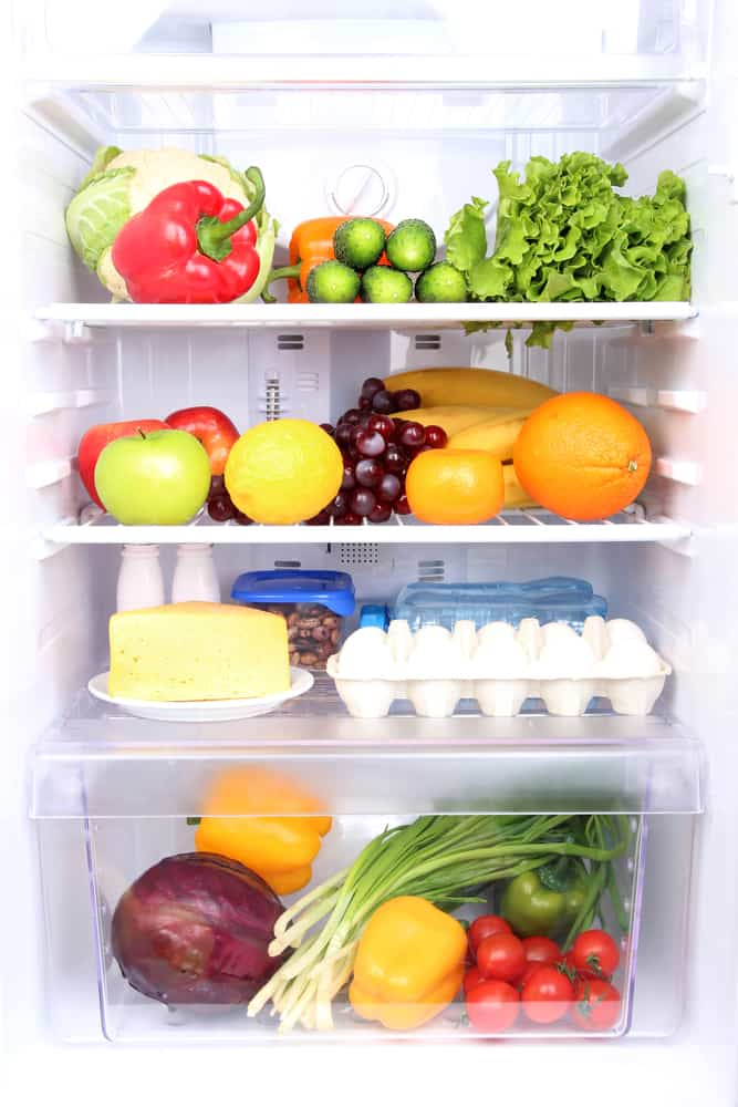 image of inside of organized refrigerator