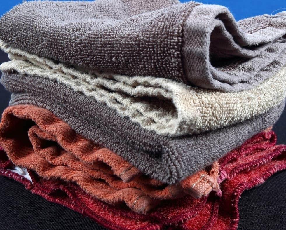 stack of old washcloths