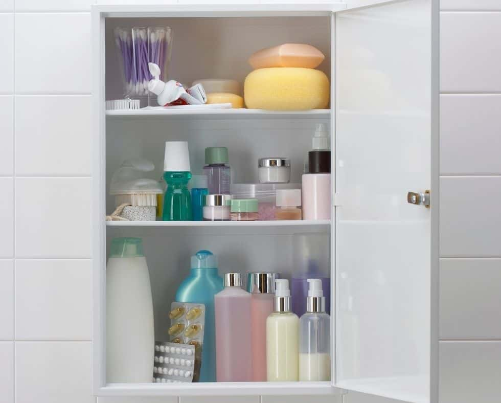 messy medicine cabinet, an area to declutter your bathroom