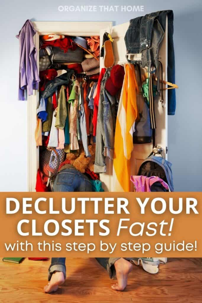 Image that shows you how to declutter your closet