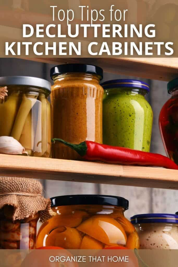Image of decluttering kitchen cabinets