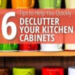 Image of tips for decluttering kitchen cabinets